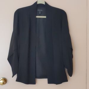 Eileen Fisher black silk jacket M